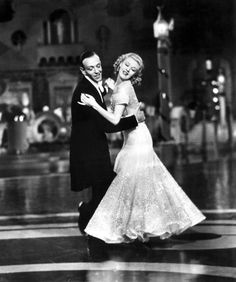 """Jerry Travers (Fred Astaire) to Dale Tremont (Ginger Rogers): """"When a clumsy cloud from here meets a fluffy little cloud from there, he billows towards her. She scurries away and he scuds right up to her. She cries a little and there you have you showers. He comforts her. They spark. That's the lightning. They kiss. Thunder."""" -- from Top Hat (1935) directed by Mark Sandrich"""