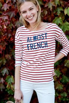 Sundry Striped Almost French Tee