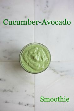This cucumber-avocado smoothie sure tasted good after all the richness of Christmas. | Babble