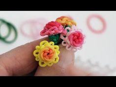 Rainbow Loom™ Mini Rose in Bloom Charm Tutorial - YouTube