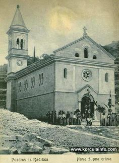Racisce Church in 1905 Newly built church in Racisce, photo taken in 1905 Travel Stuff, Croatia, Notre Dame, Singapore, Lamb, June, Sweets, Italy, Culture