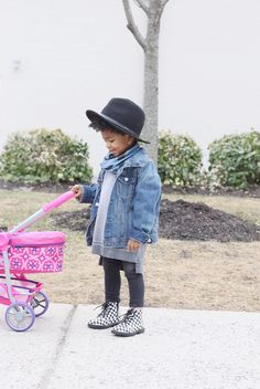 Toddler girl outfit with hat. I love this look. baby girl style - Lot801