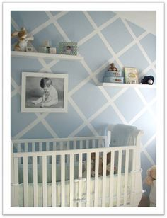 I like this for one wall in the nursery