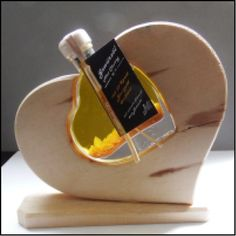 Zirbenholz Herz Ingwer Knoblauch