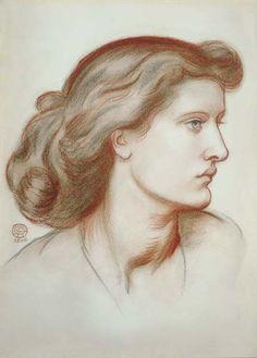 Portrait of Alexa Wilding, Profile to the Right, Dante Gabriel Rossetti, 1866