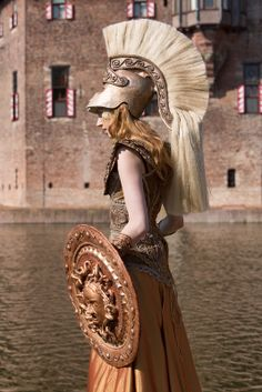 Pallas Athena costume by Susan Broers. Worn at Elf Fantasy Fair Haarzuilens (Netherlands).