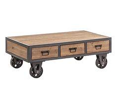 Industrial Table, Industrial Furniture, Vintage Industrial, Unique Furniture, Wood Furniture, Furniture Design, Steampunk Furniture, Wood Steel, Hobby Room