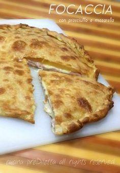 Focaccia con prosciutto e mozzarella, ricetta, cucina preDiletta