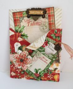 A stunning Christmas card using The Twelve Days of Christmas from Diane Schultz' workshop! #graphic45 #newcollections