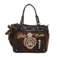 Juicy Couture Metal Medallion Crown Handbag Chocolate Handbags Purses On