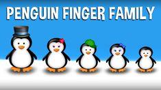 The Finger Family Penguin Family Nursery Rhyme Finger Rhymes, Finger Family Rhymes, Family Songs, Kids Songs, Sister Finger, Mommy Finger, Baby Finger, Finger Family Collection, Nursery Rhymes Collection