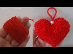 ❤❤❤😍 FROM THE MOST BEAUTIFUL TO THE EASIEST ❤FINGER YARN HEART MADE - YouTube Crochet Earrings, Christmas Ornaments, Holiday Decor, Youtube, Christmas Jewelry, Christmas Decorations, Youtubers, Christmas Decor, Youtube Movies