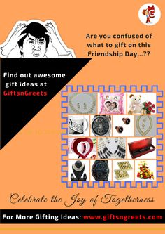 One #Stop. Many #Giftideas. #GiftsnGreets, offers you the most #amazing #gift #ideas without any confusion.  Browse for #FriendshipDay #Surprise #gifts @ http://bit.ly/29MVouD #SendGiftstoIndia http://giftsngreets.com #GiftsnGreets deliver network - 9000 pin codes | 600+ cities in India