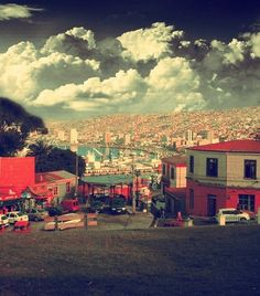 In the middle of Chile's lengthy coastline, the port city of Valparaíso is the country's artistic heart. Places Around The World, Oh The Places You'll Go, Places To Travel, Around The Worlds, Living In Peru, Beautiful World, Beautiful Places, Cities, My Point Of View