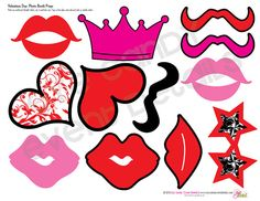 PHOTO PROPS Valentines Day Photo Booth By EyeCandyEventDetails, $6.00