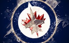Jets Hockey, Rangers Hockey, Usa Hockey, Hockey Logos, Ice Hockey Teams, Nhl, Grunge Art, Dark Blue Background, Emblem