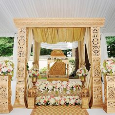 Garden Sikh wedding at your home done with grace and elegance ! #RedCarpet #glam #decor #stylist ...