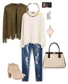 """khaki and neutrals"" by ulusia-1 ❤ liked on Polyvore featuring ThePerfext, MANGO, Cleo B, Marni, NARS Cosmetics and River Island"