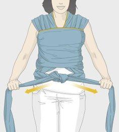 passo a passo de como vestir o wrap sling mamae tagarela  (14) Apron, Baby Boy, Boys, Fashion, Kangaroos, Baby Tips, Diy Home, Craft, Baby Boys