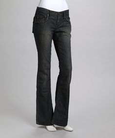 Look what I found on #zulily! Stitch's Charcoal Hawk Bootcut Jeans by Stitch's #zulilyfinds