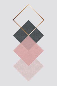 Et Wallpaper, Rose Gold Wallpaper, Pink Wallpaper Iphone, Geometric Symbols, Geometric Art, Coperate Design, Palette Art, Pink Palette, Cute Patterns Wallpaper