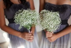 BabysBreath Bouquets. So light and airy feeling, great for my spring wedding!