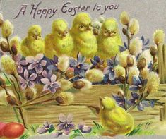 A Vintage Happy Easter Greeting