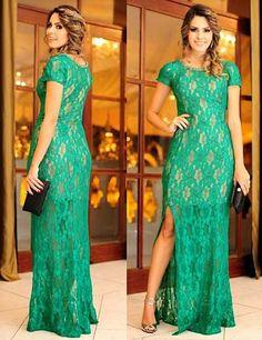 vestidos longo de festa verde 3 min