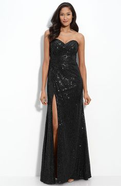 La+Femme+Strapless+Sequin+Gown+available+at+#Nordstrom