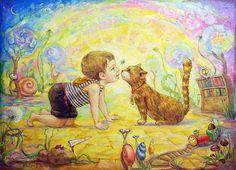 Разноцветный мир детства. Художница Катя Дудник.. Обсуждение на LiveInternet - Российский Сервис Онлайн-Дневников