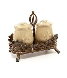 Artimino FleurdeLis Beveled Earthenware Salt and Pepper Shaker Set #Dillards