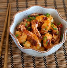 Shrimp with Spicy Garlic Sauce.  I learned this recipe when I was visiting Thailand. They cook it at the street corner and it was very delicious. The preparation was visible, so I learned very easy to cook at home. I recommend if you like shrimps, it is very delicious.