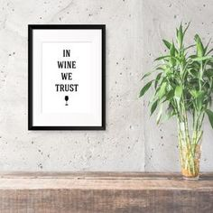 In Wine We Trust print Funny Inspirational Quotes, Text Color, Dark Side, Trust, How To Apply, Humor, Words, Prints, Gin