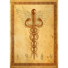 The famous Greek physician Asclepius inspired this blend. Medical Art, Gods And Goddesses, Magick, Incense, Worship, Vintage World Maps, Witch, Meditation, Blessed