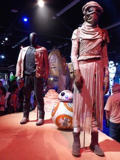Original Finn and Rey Star Wars: The Force Awakens movie costumes