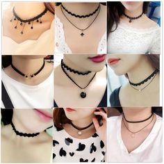 Hot Sale Wholesale Black Choker Necklace Clothing Accessories For Women Korea Fashion Jewelry Personalized Simple Rope Necklace