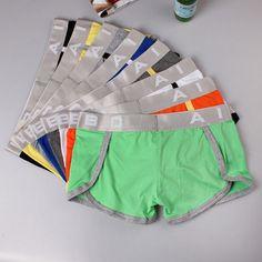9eaca438af598 AIBC Sexy Casual Hom Breathable U Convex Mid Waist Boxer Briefs Underwear  for Men Боксеры Трусы