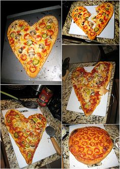 Valentine Pizza... this is what Barry order's us every V-Day! :) it's the little things!