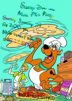 Scooby Doo Birthday Invitation-pizza Shaggy And Scooby, Printable Birthday Invitations, Party Invitations, Invites, Pizza Party, Sale 50, Shop Ideas, Scooby Doo, Fun Stuff