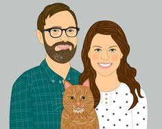 Custom portrait anniversary gift personalized #weddings @EtsyMktgTool http://etsy.me/2y9USDc #customportrait #anniversarygift