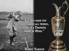 """Today marks the birth of golf's first International celebrity, Harry Vardon who was born in 1870. Vardon remains the only golfer to win 6 Open Championships. Along with being a major record holder, Vardon helped spread golf's popularity in England and the United States in the 1900s. Here's a few words of wisdom from """"The Stylist"""" #GolfLegend #Golf #GolfHistory"""
