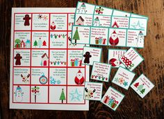 Free printable advent activities -- Print, cut and use or fill in the blanks with your own ideas