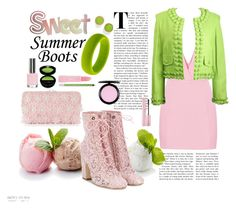 """""""Summer Booties"""" by marionmeyer on Polyvore featuring Mode, Adrianna Papell, Moschino, Marc Jacobs, MAC Cosmetics, Topshop, Forever 21, Giorgio Armani, Laurence Dacade und Urban Decay"""