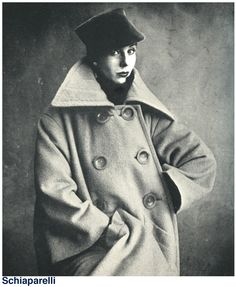 coat by Elsa Schiaparelli  (1950)