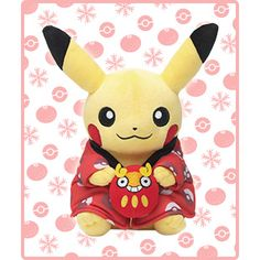 The ninth special (monthly) edition of Pikachu holding Darumaka plushy.