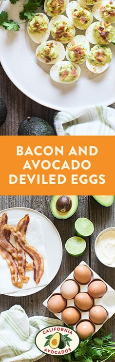 Dive into these bacon and California Avocado deviled eggs for a delicious start to your day. Breakfast is served!