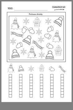 Winter kindergarten worksheets, preschool lessons, preschool activities, winter activities, winter crafts for Kindergarten Math Activities, Winter Activities, Preschool Activities, Math Literacy, Preschool Lessons, Graphing Worksheets, Kindergarten Worksheets, Winter Crafts For Kids, Math For Kids