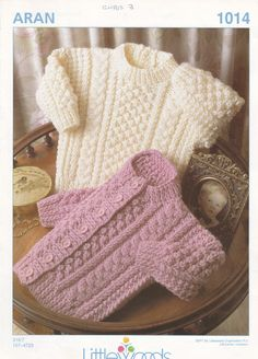 A camisola branca, à pescador... - 1014 Littlewoods Knitting Pattern for Baby by MadelainePatterns