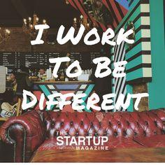 I work to be different  #TSMSmart #cahse #vision#startupmag #startup #entrepreneur #business #motivation #motivationalquotes #working #biz #photooftheday #photo #quotes #startupmagazine #inspiration #quote #inspirationalquote #justdoit #powerthroughthedailygrind #chasethevision #money #bedifferent #work #whydoyouwork