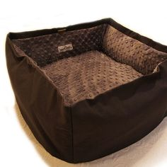 Solid Color Pet Bed CUSTOM 12 In Square Small 32 door SassMuffins